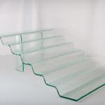 Ekspozytor szklany / schody / do przystawek