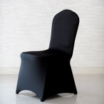Pokrowiec na krzesło konferencyjne – czarny